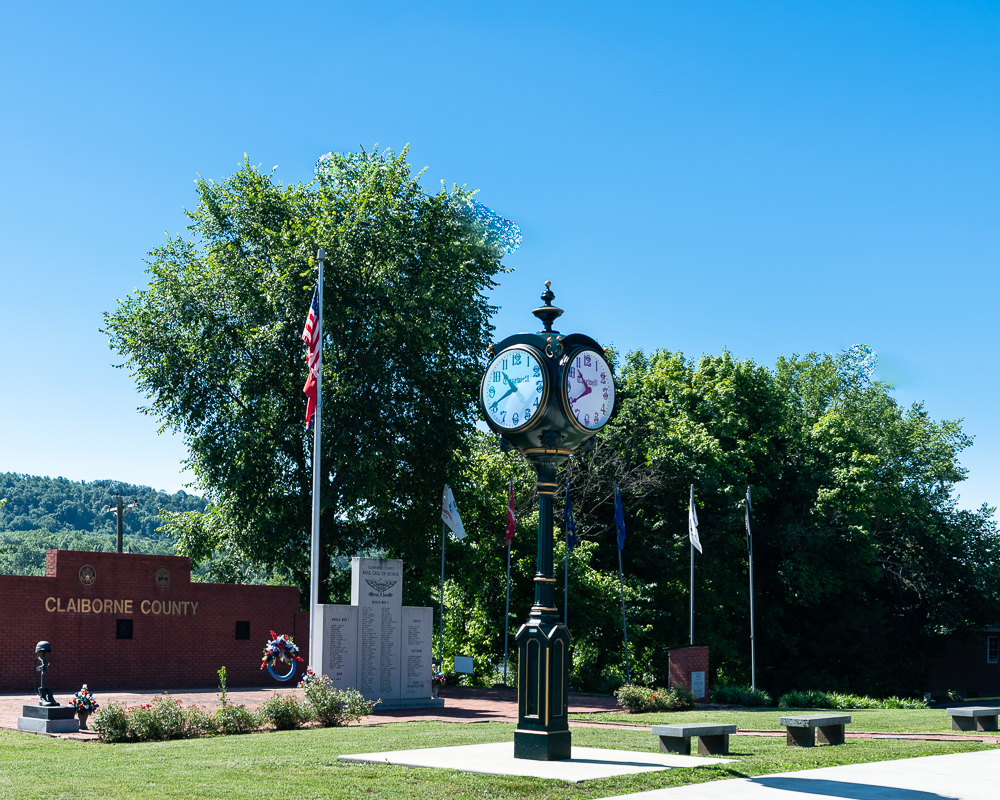 Claiborne county clock, Claiborne County Landmarks